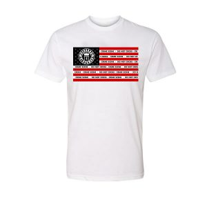 Rebrand The Black Man Crime Tape Tee (white)