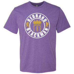 Rebrand The Black Man Tee (purple)