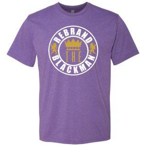 Rebrand The Black Man Tee (purple)