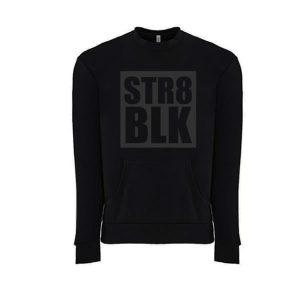 STR8 BLK (Crew Neck)
